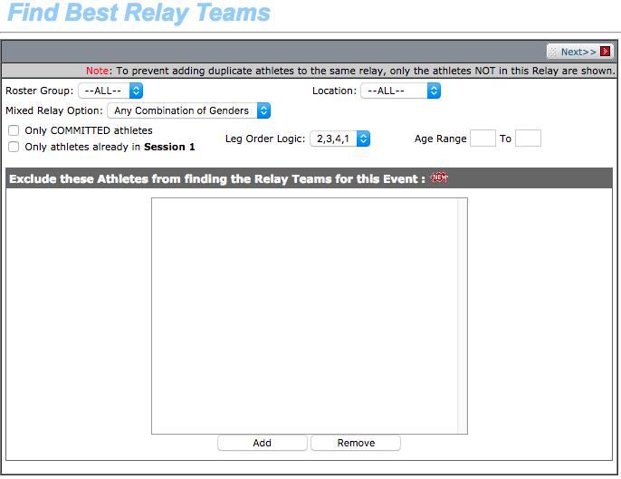 Find Best Relay Teams