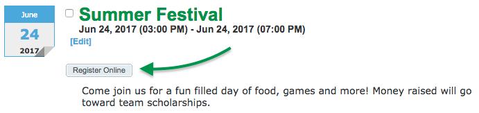 Event Reg listing