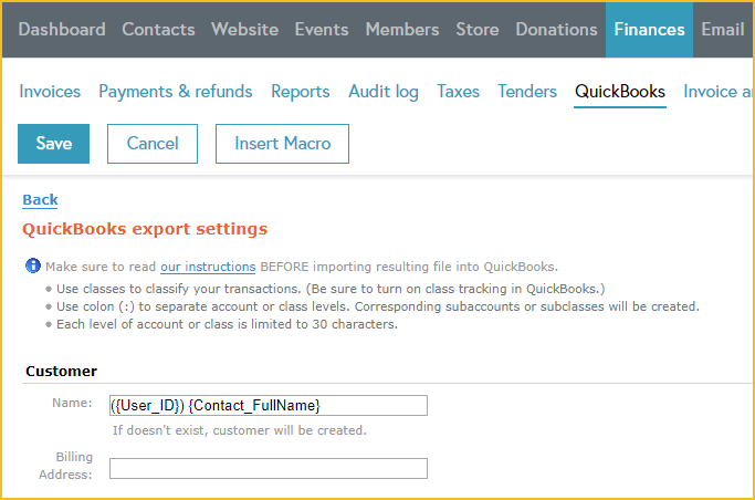 Exporting to QuickBooks - Wild Apricot Help