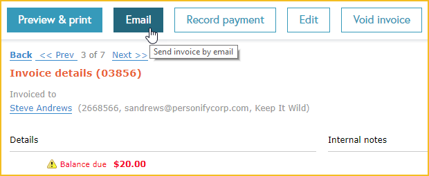 Emailing and printing invoices - Wild Apricot Help