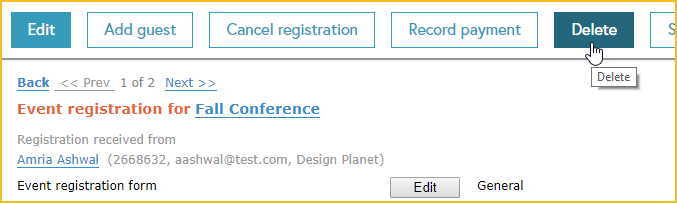 Canceling and deleting events and registrations - Wild