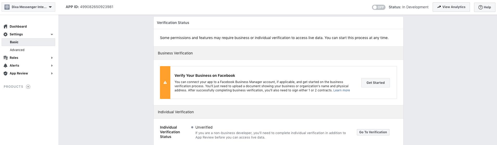 Facebook: Step 1 - Create Facebook App - Dixa Support
