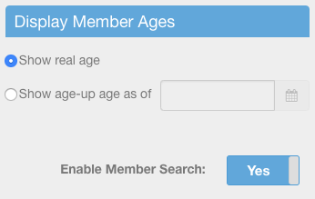 Enable Member Search