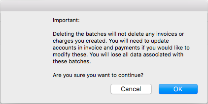 Batch delete warning