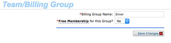 Add/edit Billing Group