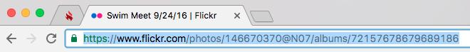 Flickr album URL