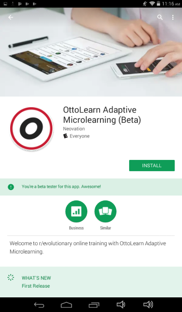 Page in app store to download OttoLearn.