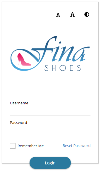 Learner login page with logo, accessibility icons, username field, password field, and login button.