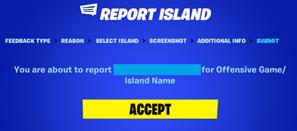Wie melde ich schlechte bzw. unangebrachte Inseln oder Inhalte im Kreativmodus?