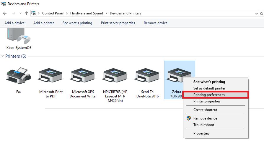 How to set up Zebra stock label size - Zenstores