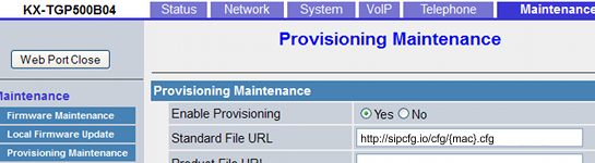 Add Provisioning Server URL onto a SIP Device - SkySwitch Knowledge Base