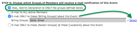 Step 6: Groups to email