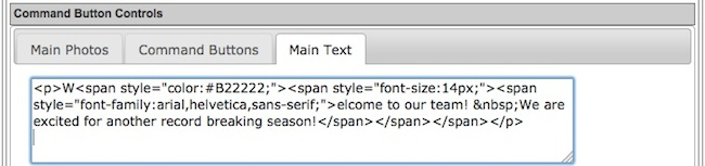 Can I add HTML to my homepage text area? - TeamUnify