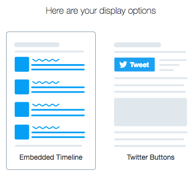Twitter display options