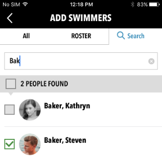 Add Swimmers