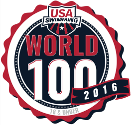 USA Swimming World 100 badge