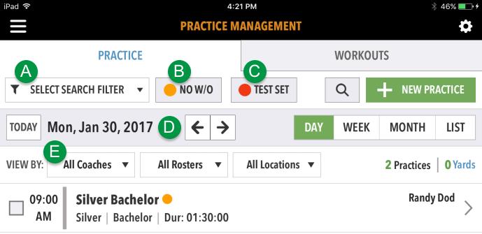 MainSet Practices on iPad