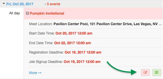 Calendar Attend/Decline button