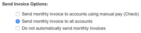 Send Invoice Options