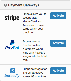 TicketingHub Payment Gateways Stripe Paypal Spreedly Izettle Sumup