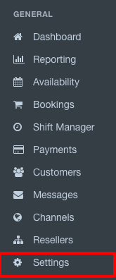 Ticketing Supplier Account Settings