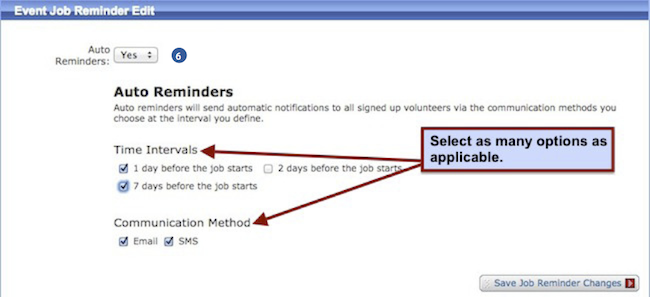 Job Reminder and Notification Alerts - Email and Verified SMS (text