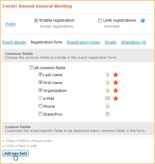 Event registration form - Wild Apricot Help