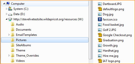 Uploading and downloading files using WebDAV - Wild Apricot Help