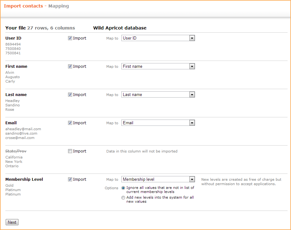 Importing members and contacts - Wild Apricot Help