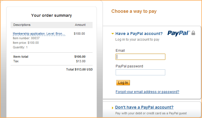 Paypal Payments Pro Wild Apricot