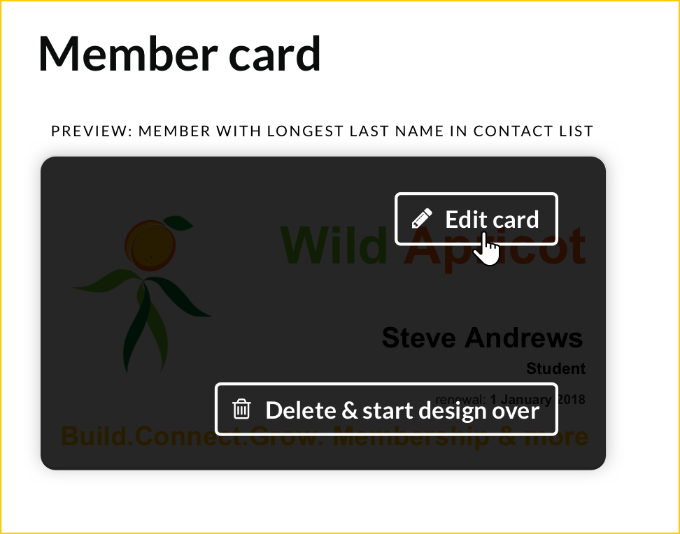 Editing Or Publishing A Membership Card Design  Membership Card Template