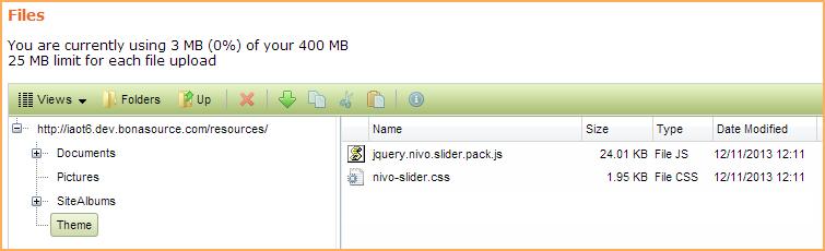 Adding a Nivo Slider animated slideshow - Wild Apricot Help