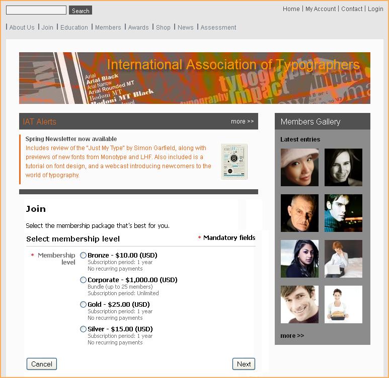 Membership application widget - Wild Apricot Help