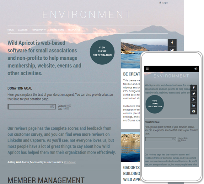 Terra and firma themes wild apricot help on sites using firma themes the background remains fixed as the viewer scrolls through the page malvernweather Choice Image