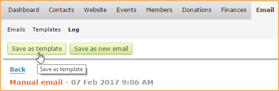Email Templates Wild Apricot Help - Save email as template