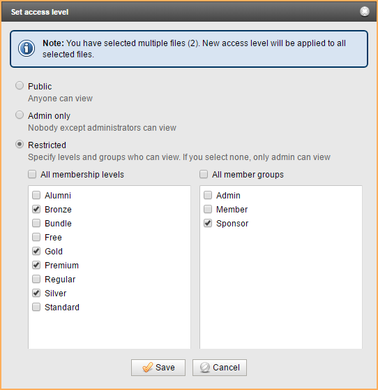 Restricting access to files - Wild Apricot Help