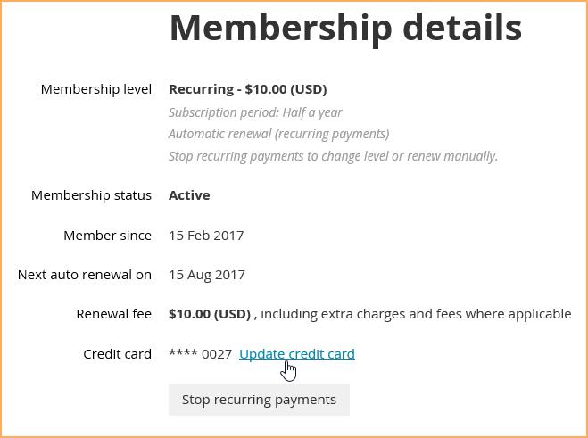 Recurring membership fees - Wild Apricot Help