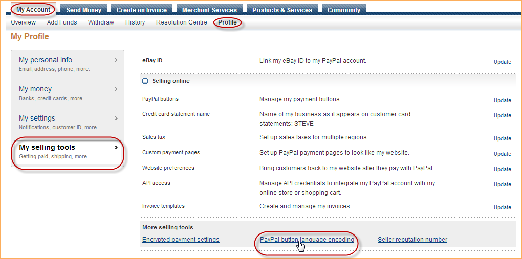 PayPal Account Setup Wild Apricot Help - What is a invoice on paypal for service business