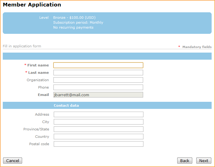 Register Of Members Template | Membership Application Form Wild Apricot Help