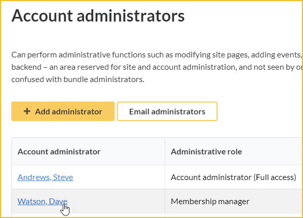 Account administrators - Wild Apricot Help