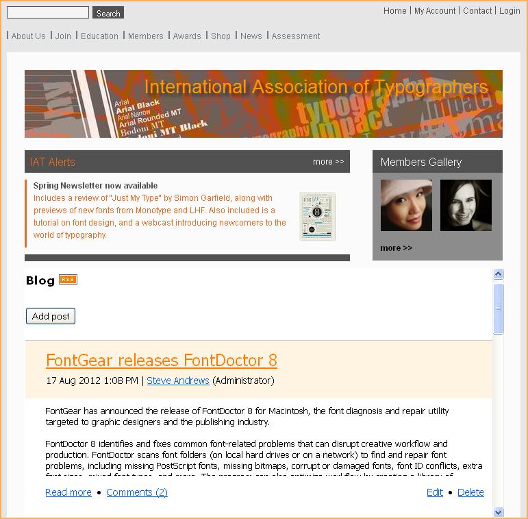 Blog widget - Wild Apricot Help