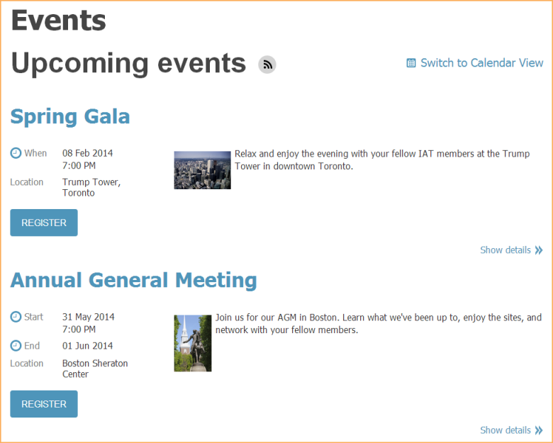 Adding an event calendar to your site - Wild Apricot Help