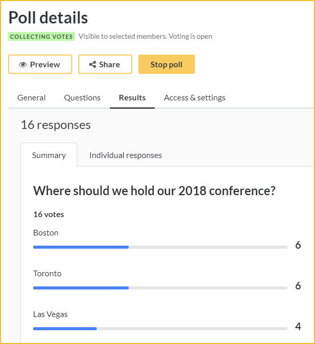 Polls, elections, and surveys - Wild Apricot Help