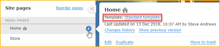 How To Tell Which Template A Page Is Using