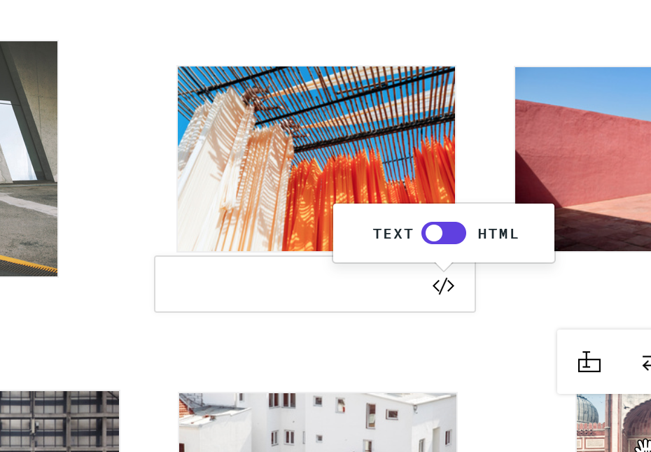 Gallery page image captions converting from text to html