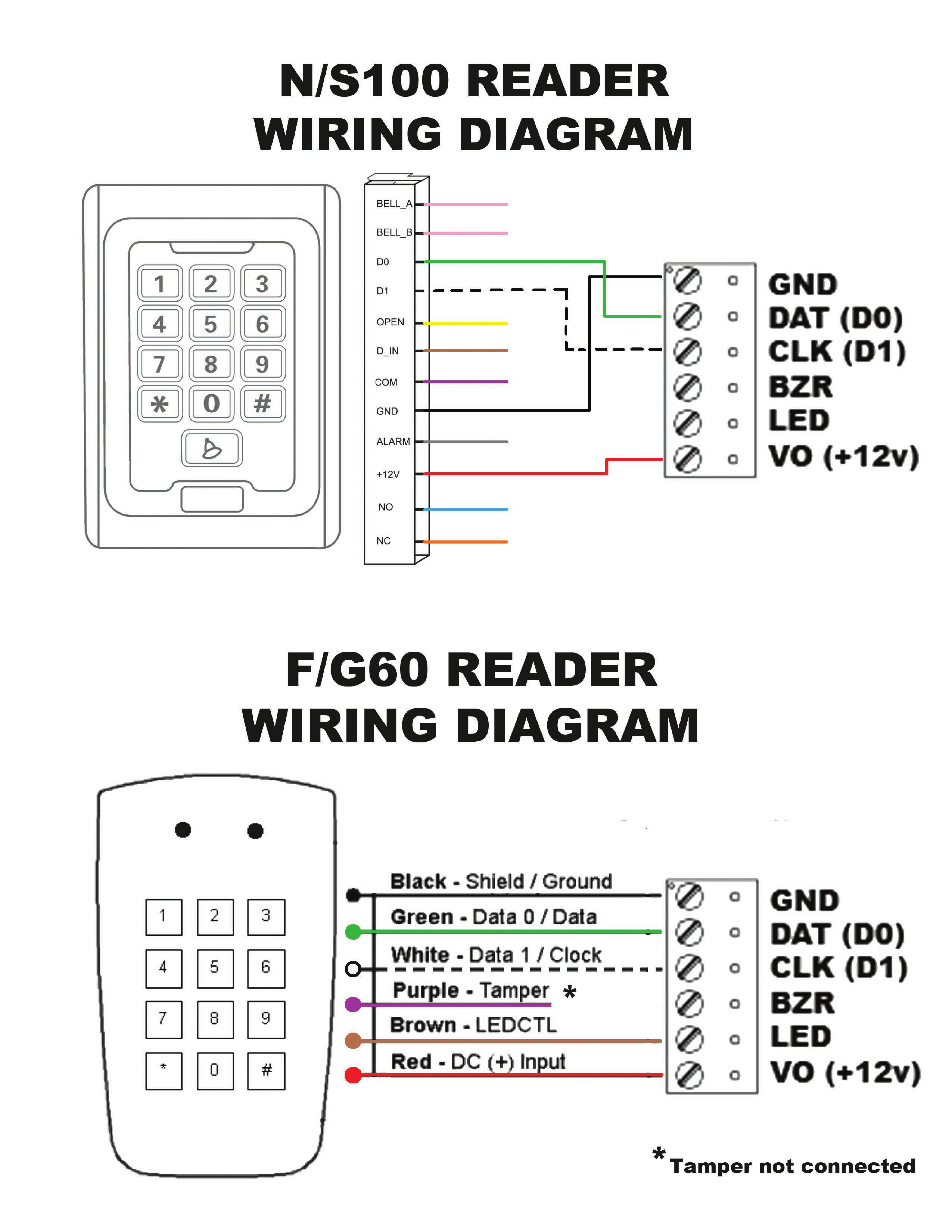 ls f60 g60 and ls n100 s100 readers wiring diagram remotelock rh lockstate elevio help winca s100 wiring diagram smart s100 series wiring diagram