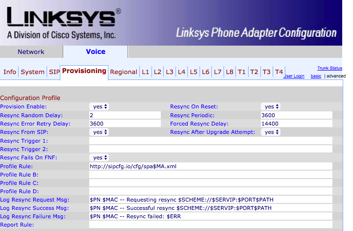 Linksys SPA8000 - SkySwitch Knowledge Base