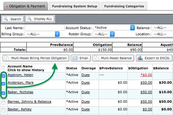 Fundraising Admin