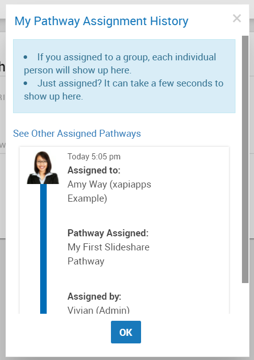 Assign Slideshare content to a learner - xapiapps Documentation