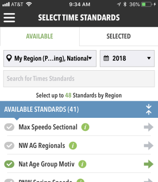 Select Time Standards